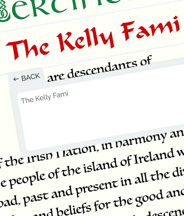 Irish Heritage Cert - Design it online