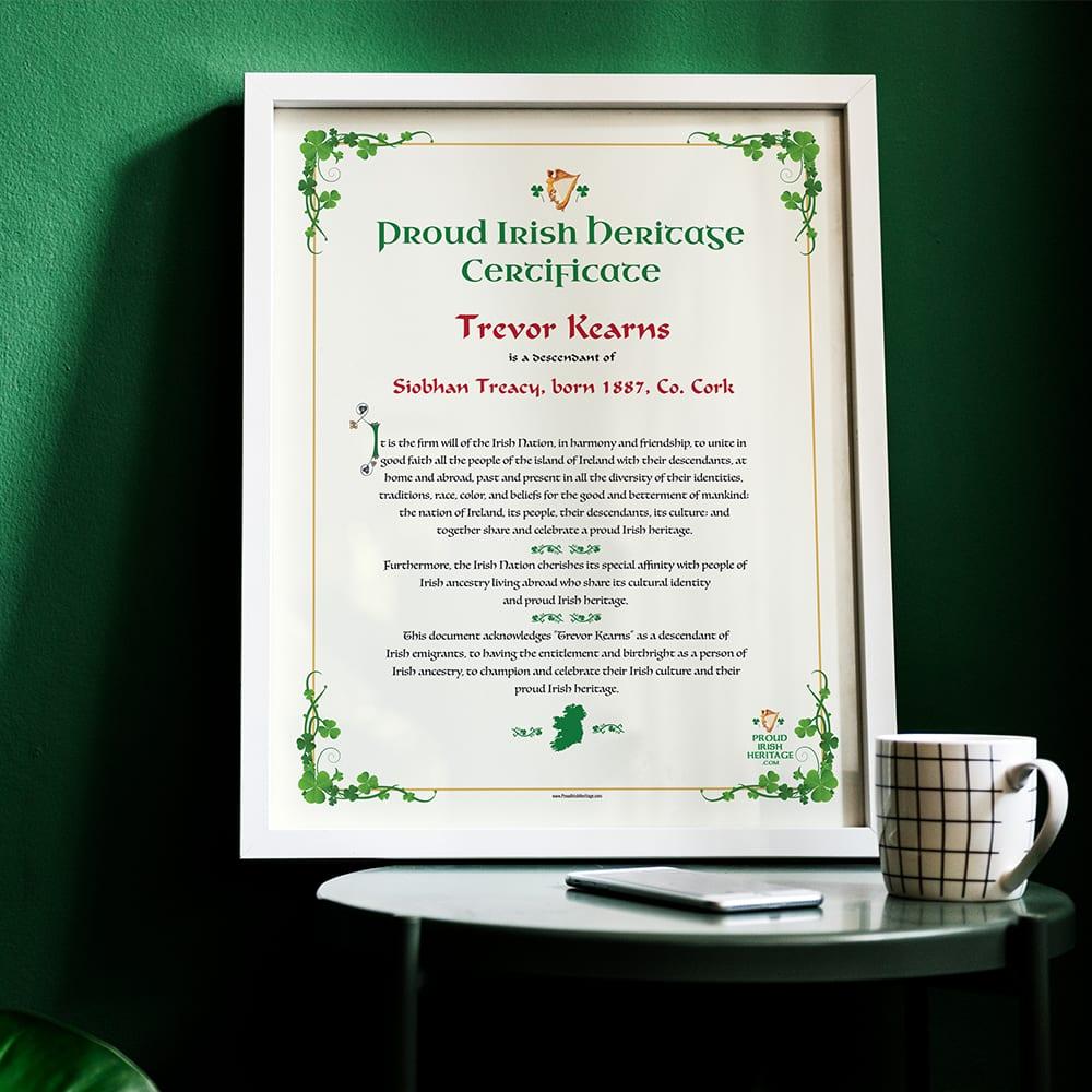Be proud of your Irish heritage.