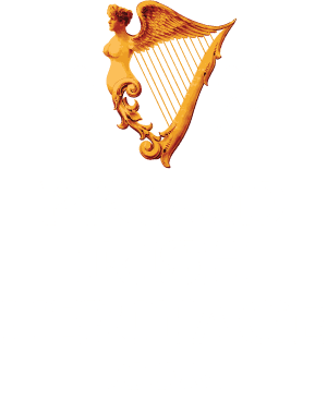 Proud Irish Heritage Logo -1 White