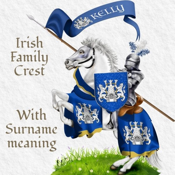Proud Irish descendants family crest illustrations.