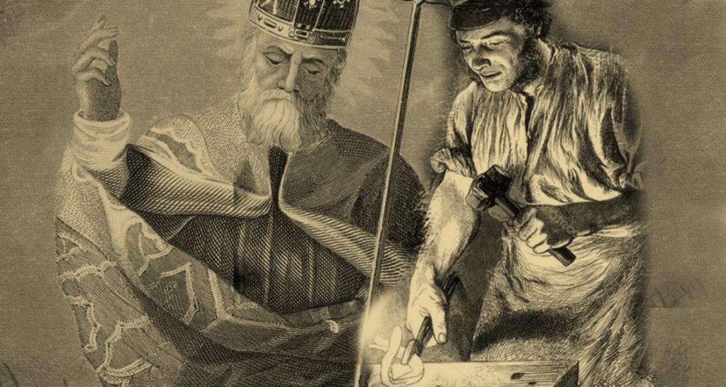 St Patrick and the blacksmith