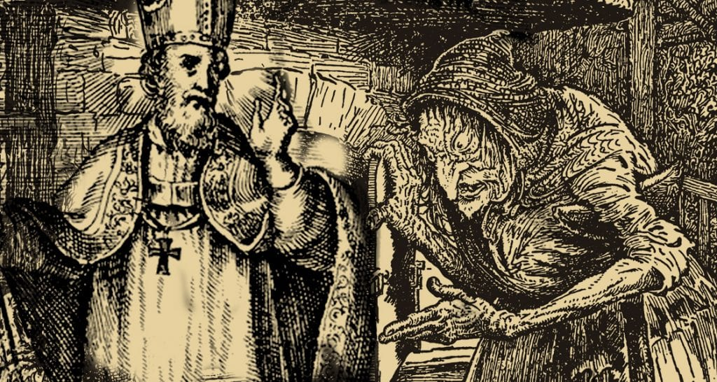 St Patrick and the tricky old woman